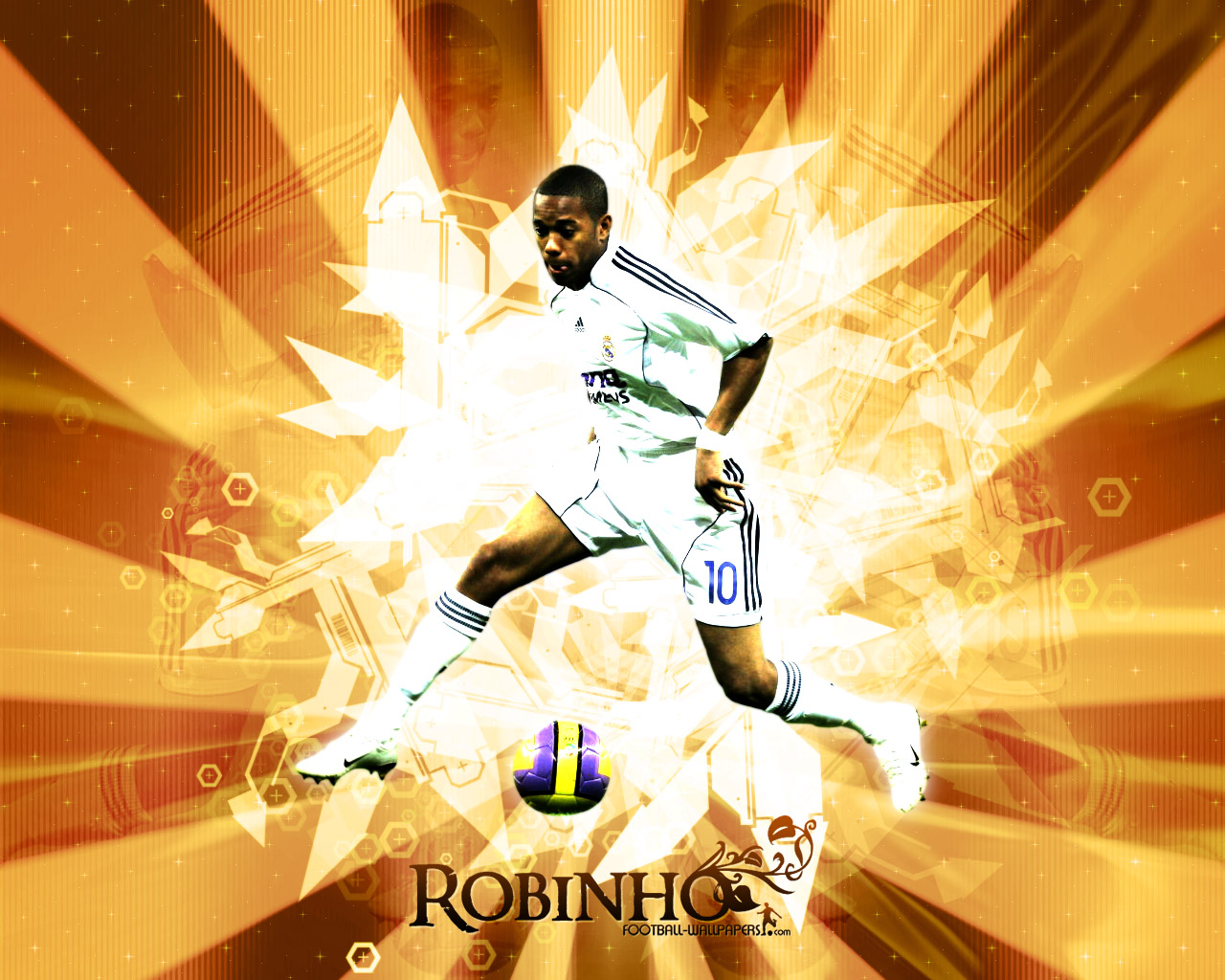 world cup,world cup 2010, South Africa, football, soccer, Real Madrid Wallpaper Robinho