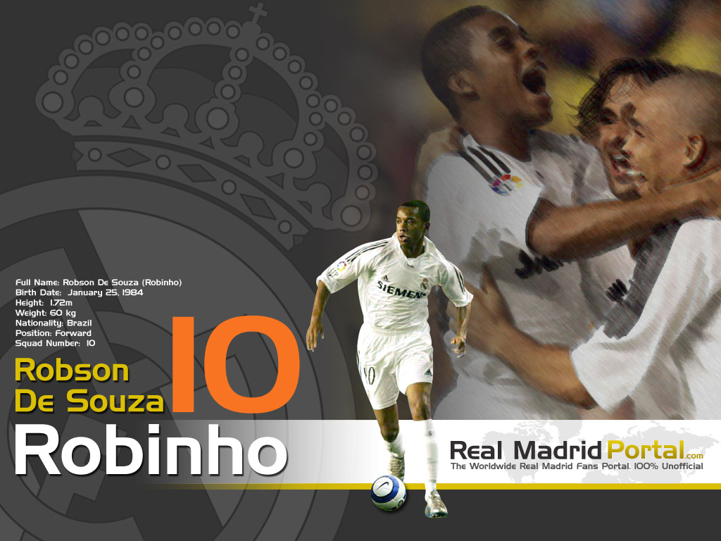 Free Football Wallpapers 1024x768 Robinho Wallpapers Real Madrid